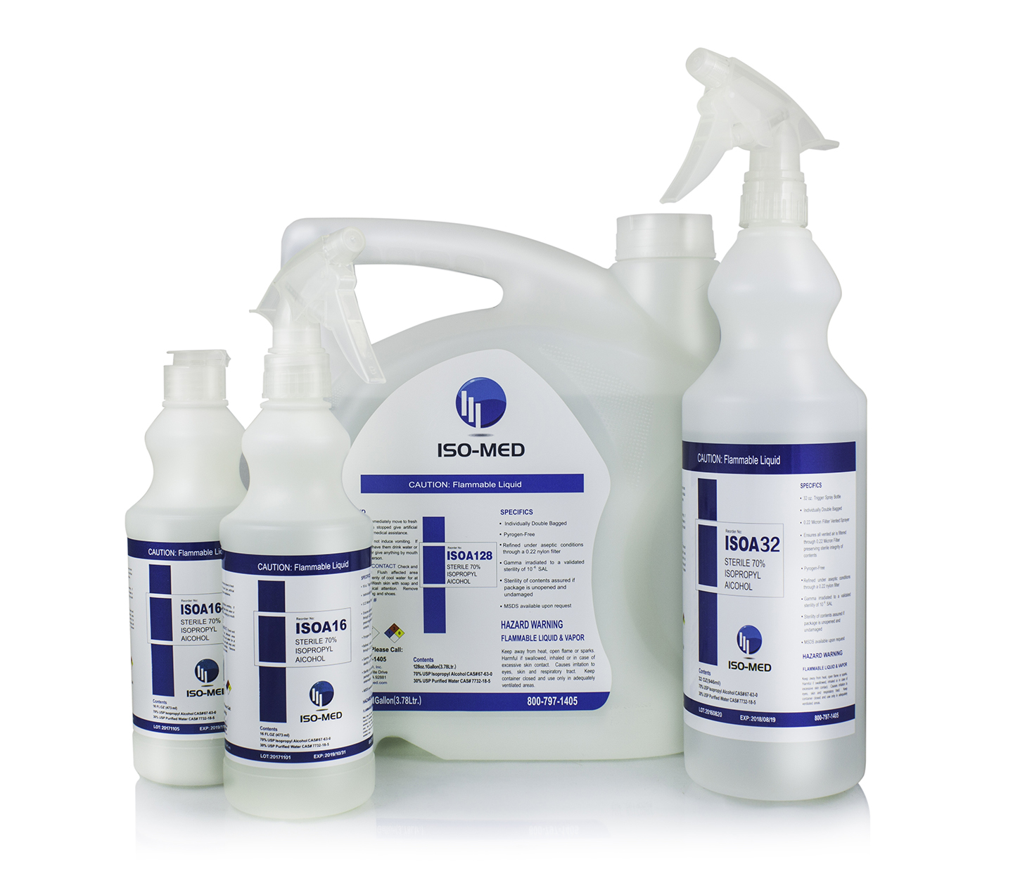 Sterile 70% Alcohol | ISO-MED, INC