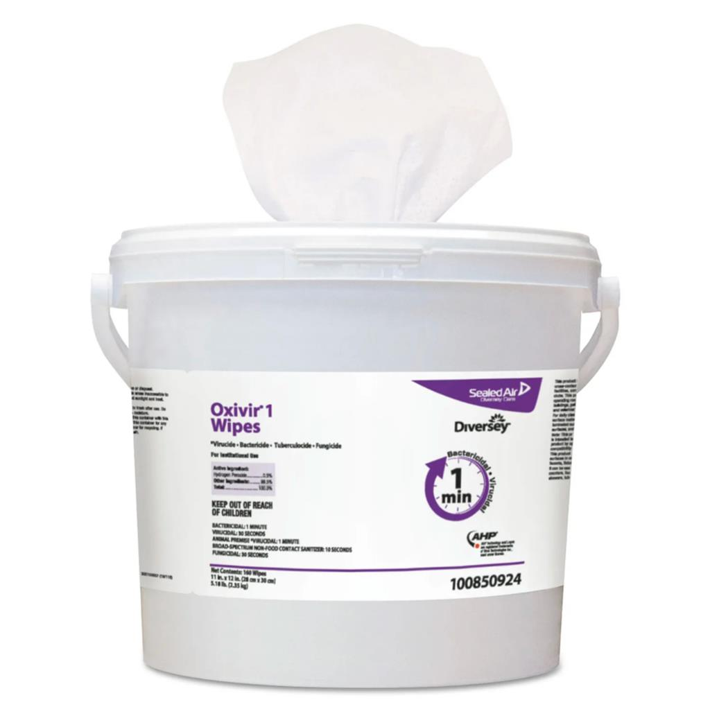 Surface Disinfectant Cleaner Oxivir® 1 Premoistened Wipe 160 Count Pail Disposable Scented