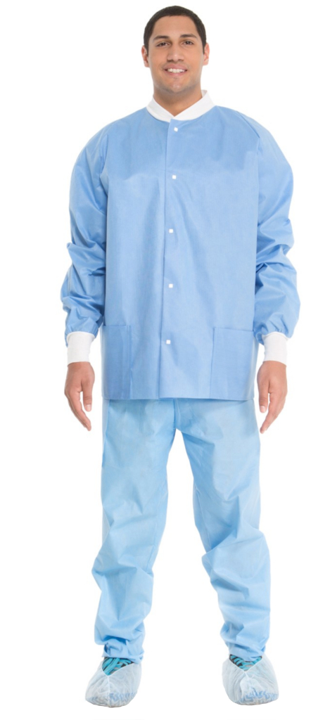 Lab Coat, Snap Front, Waist Length, Unisex, X-Large, 2 Pocket, 24/case