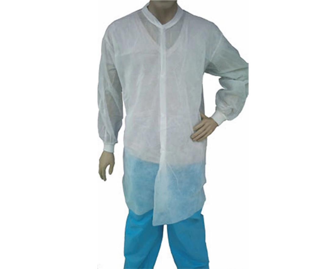 LAB COAT, WHITE LT. WT. SPP, KW, KC, NO PKT, XLG, 50/CS