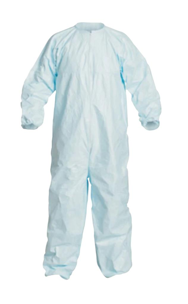 Dupont, Tyvek, Micro-Clean 2-1-2 Coverall, Sterile, Size Medium, Zipper Front, Elastic Wrist And An