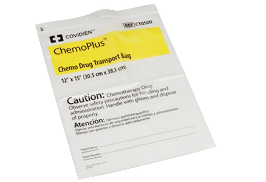ChemoPlus Chemotherapy Drug Transport Bag, 13 x 19', 4MIL, 250/CS