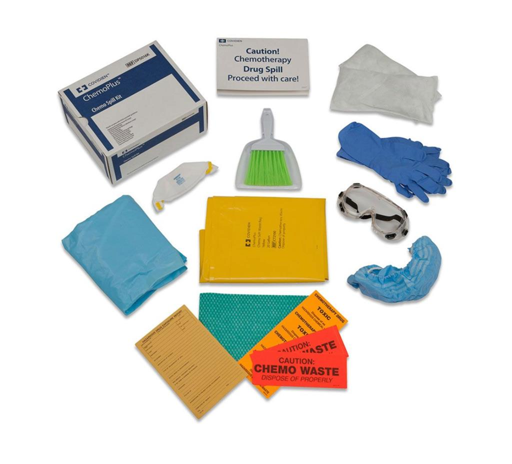 Chemo Safety Spill Kit w/Latex gloves 4/case