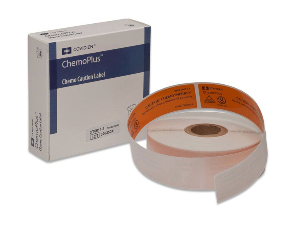 Pre-Printed Label Kendall Healthcare Chemotherapy Label Caution Chemotherapy,1/2 W X 3 H Inch - 4 rolls/case 4 rolls/case