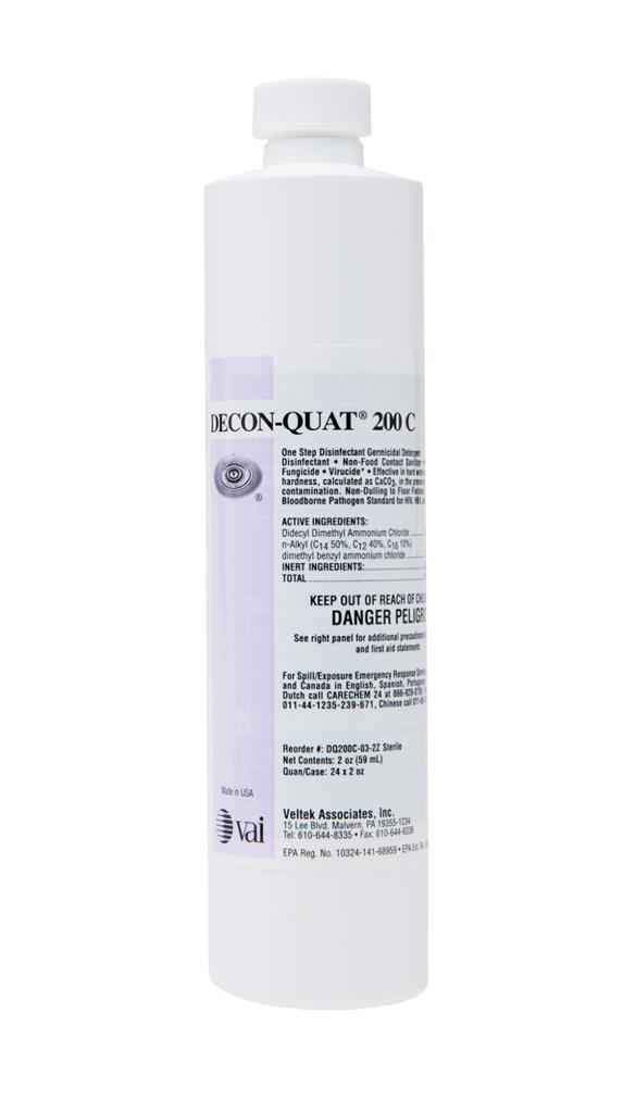 DECON-QUAT 200C Quaternary Ammonium Concentrate, 8 oz, 24/CS