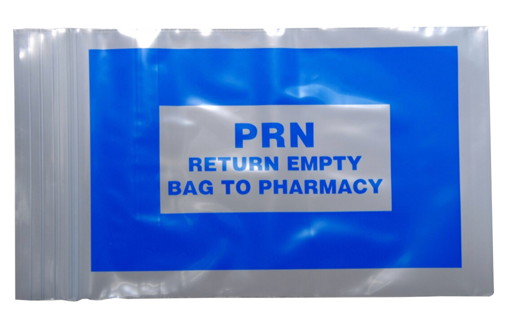 "Blue PRN Bags - Seal Top Reclosable 4"" x 6"""