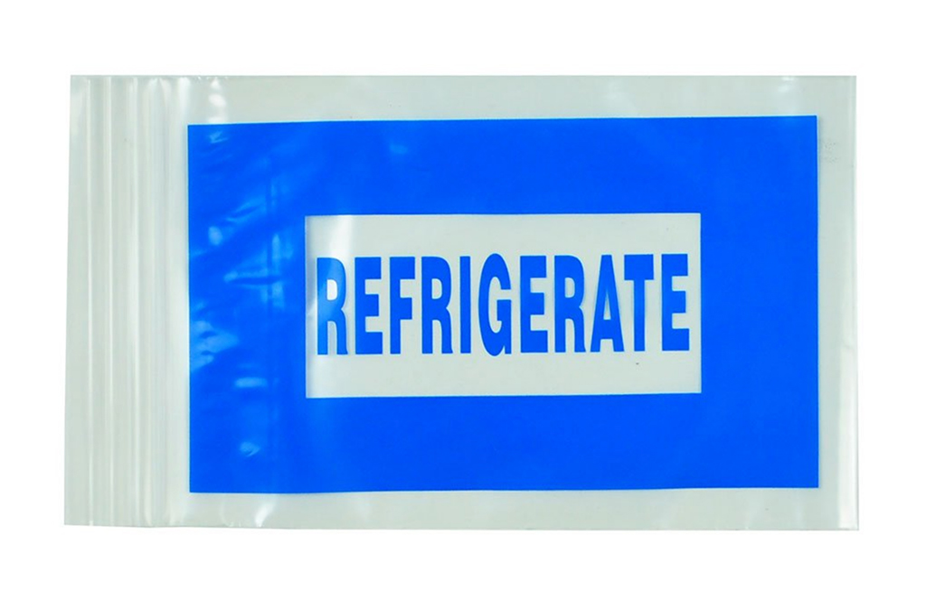 "Refrigerate Bags - Seal Top Reclosable 6""x9"" 2ml Blue"