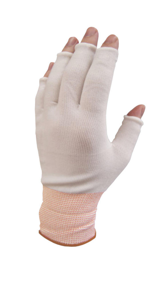 PureTouch Glove Liners Orange Cuff Medium Half Finger