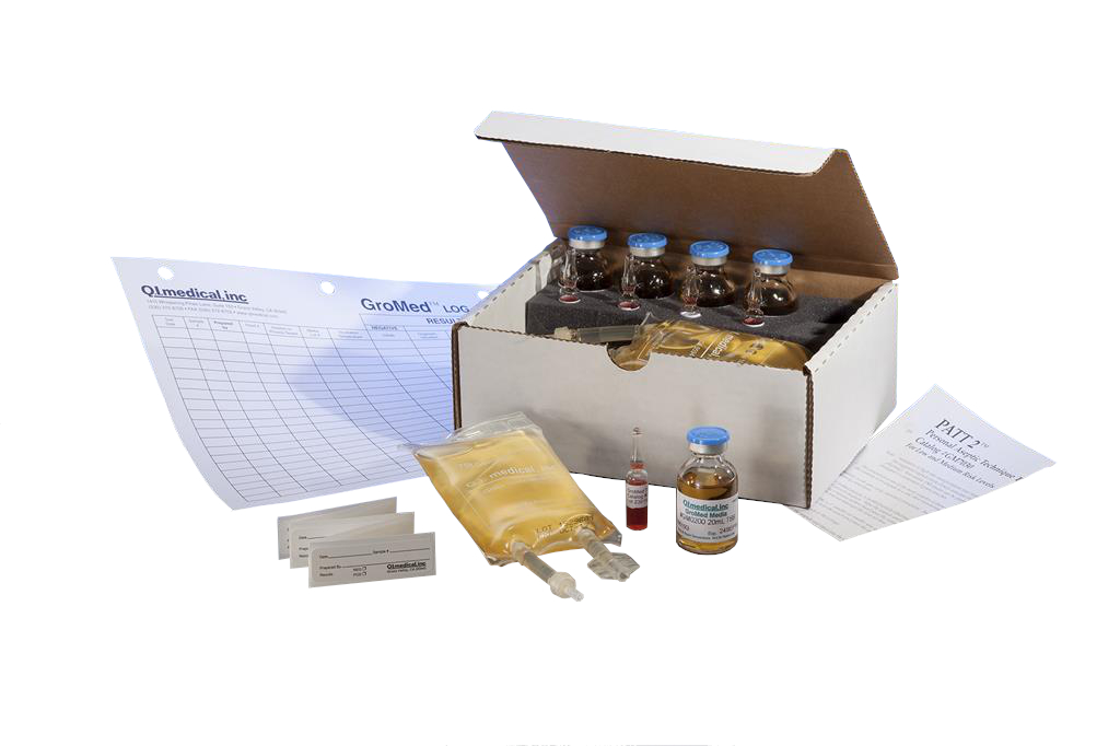 PATT2, Personal Aseptic Technique Test Kit, 3mL Ampules, 20mL Vials, 100mL Partially Filled Minibags