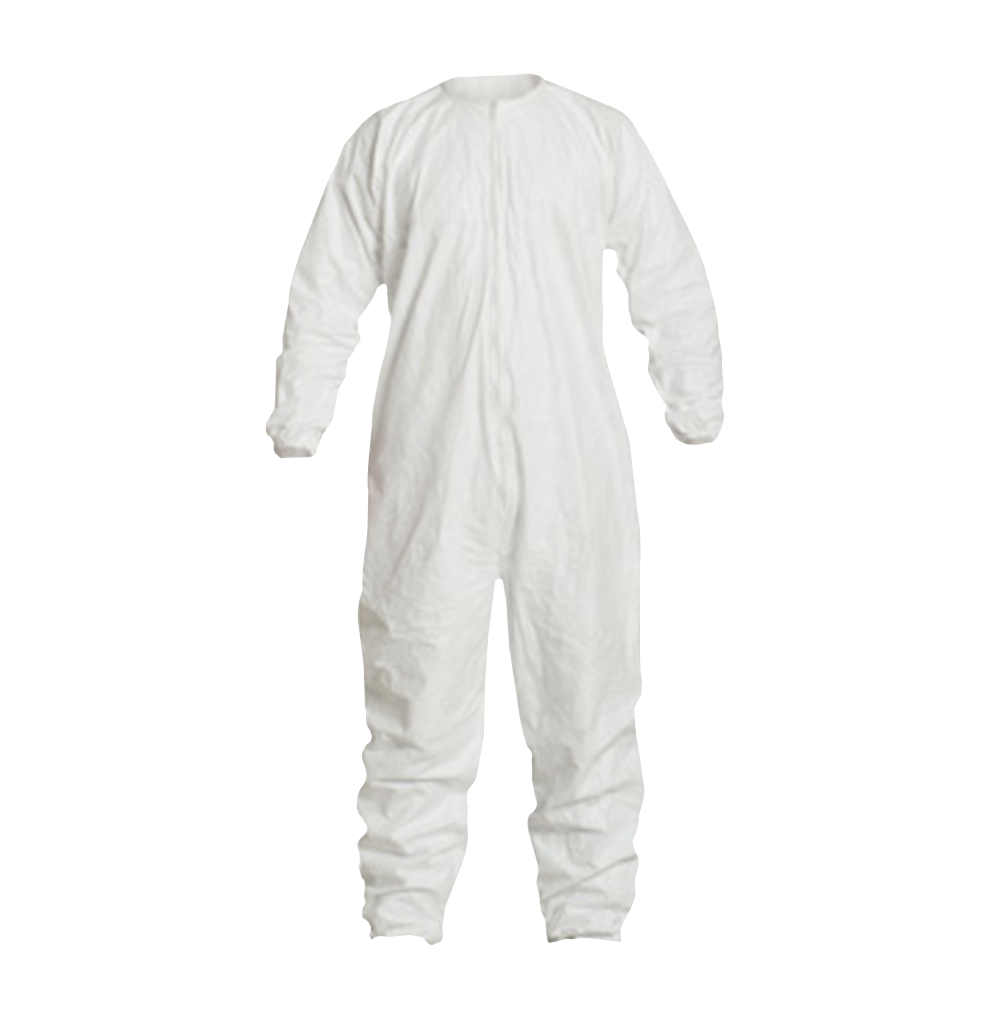 DuPont™ Tyvek® IsoClean® Coverall, Clean and Sterile, Bound Seams, Bound Neck, Dolman Sleeve Design,