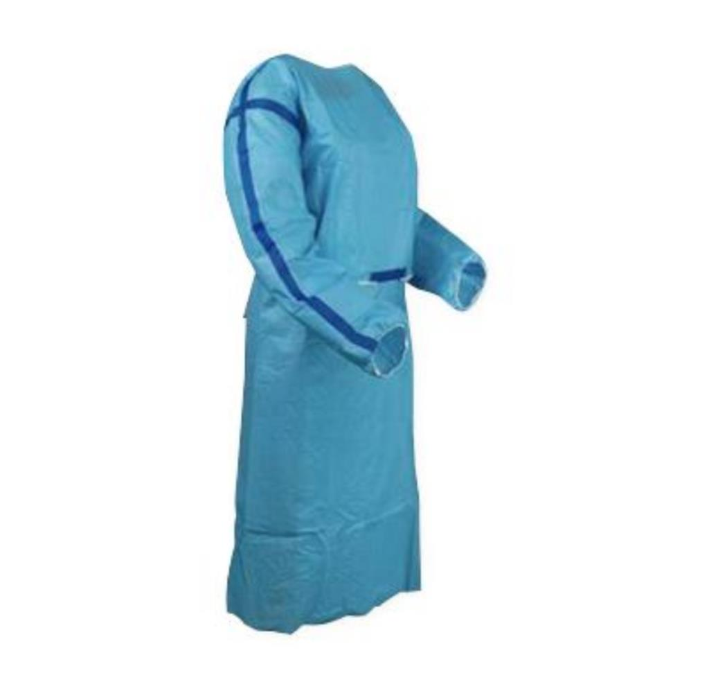 ISO Sterile Chemo Gown USP 800 Compliant, Level 3 impervious, Blue - Small, 1 Sterile Gown/Bag, 50 Bags/Case