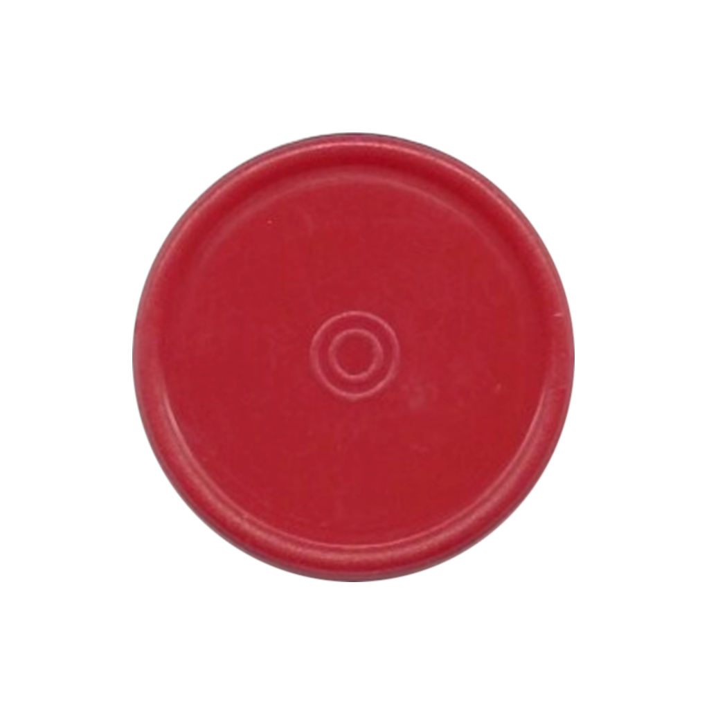 13mm Plain Flip Caps, Red, PK 100