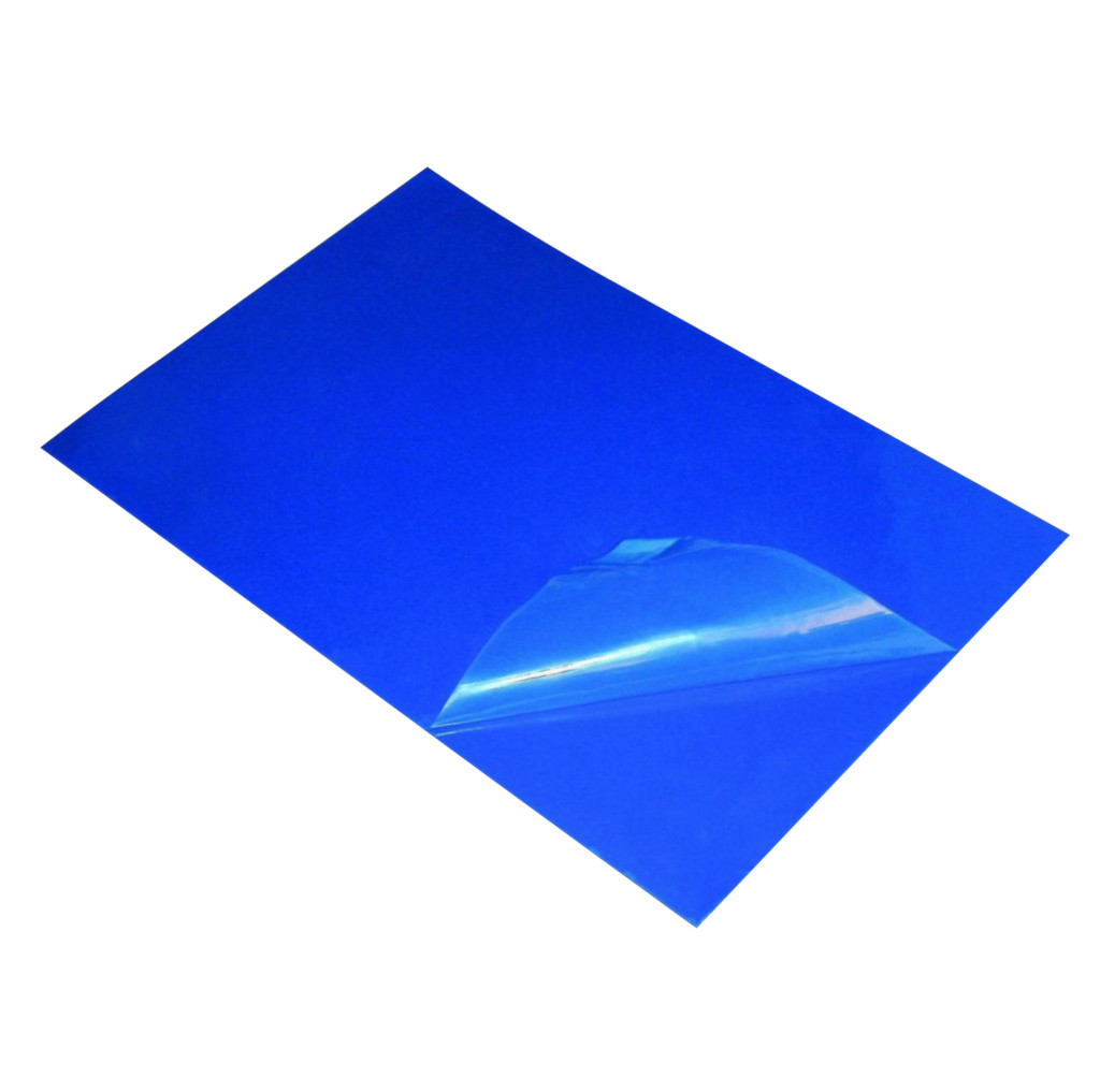 "Tacky Mat, 26"" x 45"", Blue Base, Clear Film, 60 Sheets Per Layer, 4 Layers Per Case"