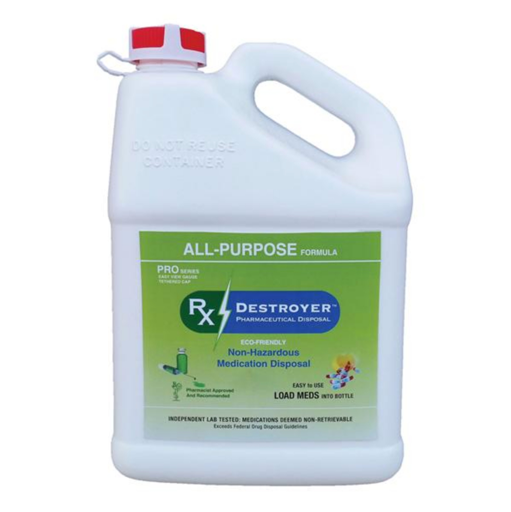 Pharmaceutical Disposal System Rx Destroyer™ PRO Series All-Purpose 1 Gallon Bottle, 3,000 Pill Capacity, 4/CS
