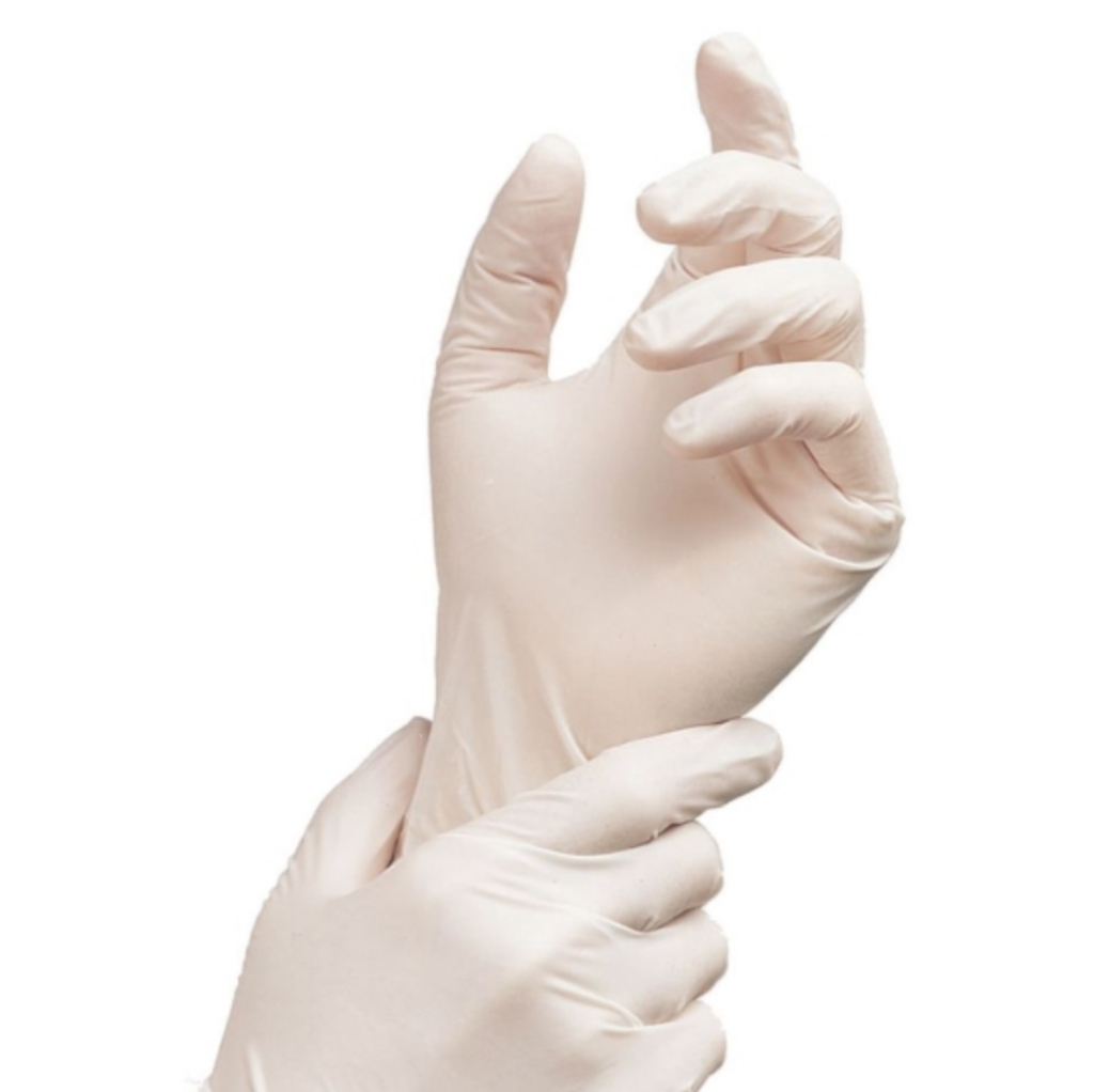 "Sterile Powder Free Gloves, Textured Surface, Folded Cuff for Aseptic Donning, Size 6.5, 12"" Length, 50 Pairs/Box, 200 Pairs/Case"