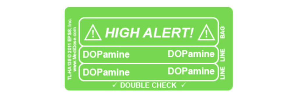 Line Tracing Label - DOPamine White Text on Green Background 1000/Labels/roll