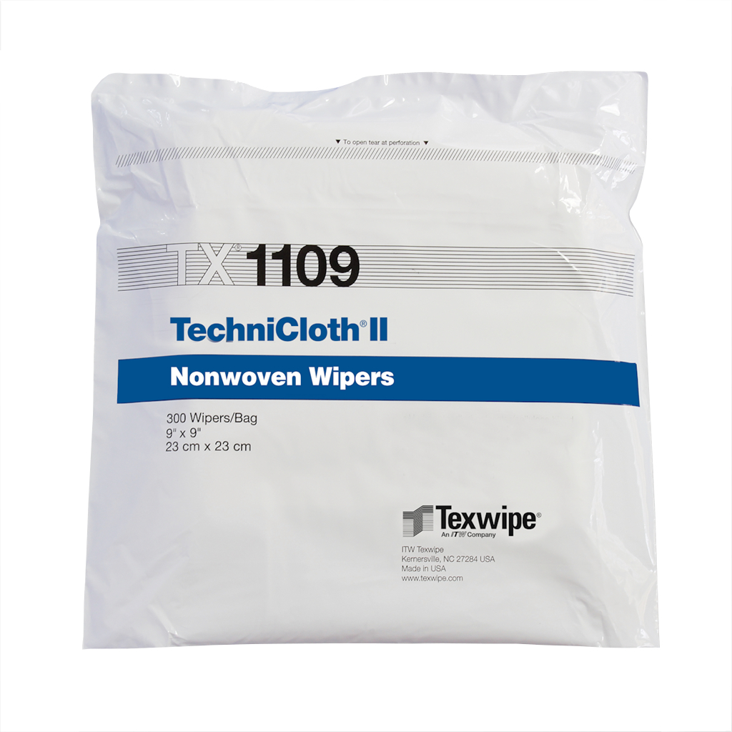 "TechniCloth II 9"" x 9"", 300 wipers/bag double bagged, 10 bags/case = 3,000"