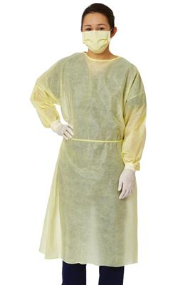 Edge 67100 Isolation Gown, Yellow, Size M, 50/CS