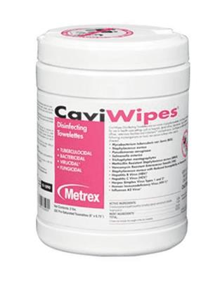 "Wipe,Disinfecttant CaviWipes XLG 10"" x 12"" Pull-Up Canister, 1/EA"