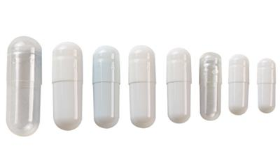 Empty Gelatin Capsules Size 0 Color Clear 500/bottle
