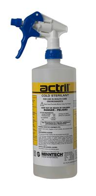 Actril Cold Sterilant Ready-to-Use 1 liter container, 6 containers per case