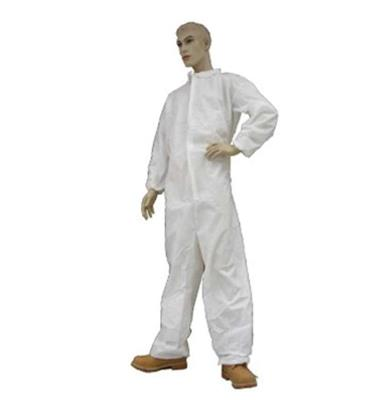 ECONOMY POLYPROPYLENE COVERALL WITH COLLAR & ELASTIC WRIST XXL 25/case