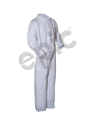 Coverall, White MP Coated, Collar, No Elastic