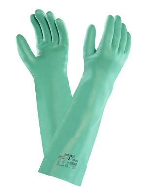 Solvex High Comfort, Chemical Resistant Glove, Suitable for Heavy-Duty Cleaning Applications, Size 1