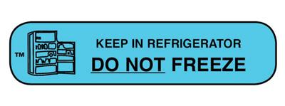 "Pharmacy Advisory Label - Keep in Refrigerator (DO NOT FREEZE) 1-9/16"" x 3/8"" 1000/box"