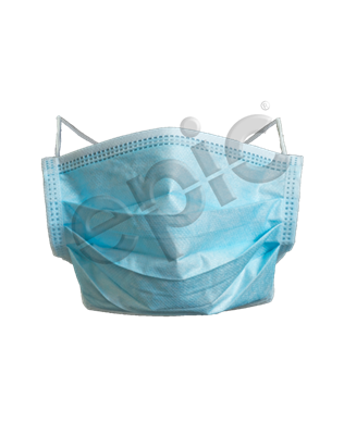FACE MASK W/ ROUND ELAS. LTX FREE EARLOOP & Clip, BLUE 500/case