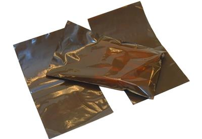 "Amber Open End Regular UVLI-Bags for Large Ampules 2.5"" x 5"""