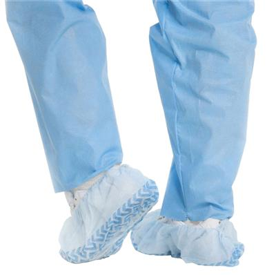 Shoe Cover X-tra Traction® X-Large Shoe-High Non-Skid Blue NonSterile