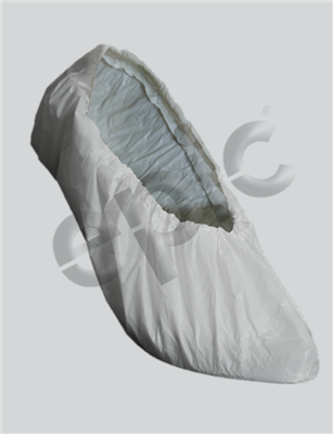 Shoe Cover, White PE Poly, Large