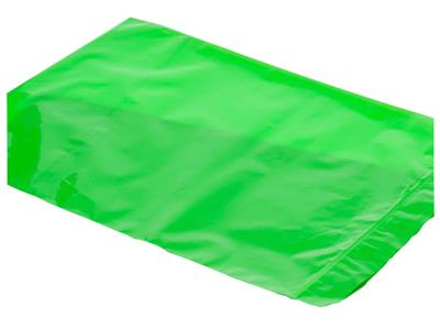 "Slit-Top UVLI-Bags Green for piggyback IV's (250ml) - 5"" x 8.5"" 500/case"
