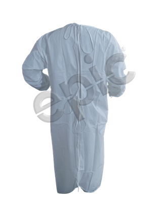 ISO GOWN, WHITE MP CTD, T-STRAP, EW, 3XL 30/CS