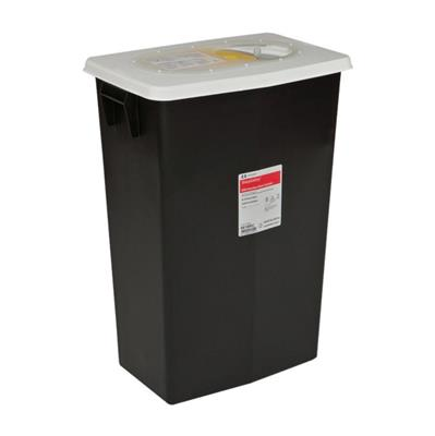 RCRA Hazardous Waste Containers by Covidien CONTAINER, WASTE, BIOHAZARD, 8GAL, SLIDE LID