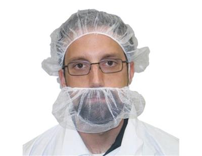Beard Cover, White Nylon Universal Size