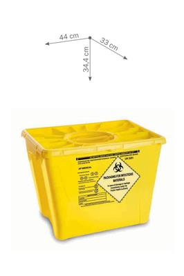 MedSMART Chemo Waste Container 8 Gallon Yellow W/Duo lid 9/case