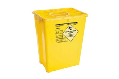 Chemo Waste Container 12 Gallon Yellow W/Duo lid 8/case
