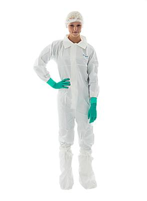 Non-Sterile Coverall W/Collar & Thumb Loops, Zip Front W/Flap