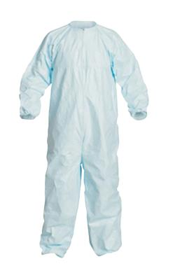 Dupont, Tyvek, Micro-Clean 2-1-2 Coverall, Sterile, Size Large, Zipper Front, Elastic Wrist And Ankle, Stormflap, Blue, 25/CS