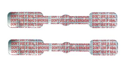 "For Small Syringes ""Don't Use If Seals Broken"" - S"