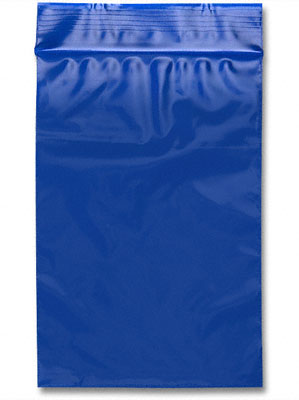 "Blue Zip Lock Bag 6"" x 9"""