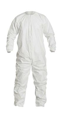 "Disposable Cleanroom Coverall, 7XL, 63-1/4"" to 66-3/4"" in Chest, 36-1/2"" in Inseam, Tyvek® IsoClean®"