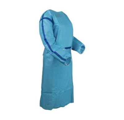 ISO Sterile Chemo Gown USP 800 Compliant, Level 3 impervious, Blue - Medium, 1 Sterile Gown/Bag, 50 Bags/Case