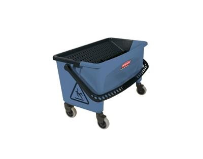 Blue Mop Bucket With Smooth Non-Porous Surface To Prevent Bacteria Growth
