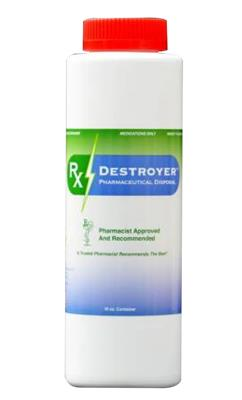 Pharmaceutical Disposal System Rx Destoyer 16 oz. Bottle, 12/CS