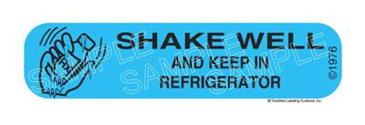 Auxiliary Label - Shake Well and Keep in Refrigerator 1,000 Labels