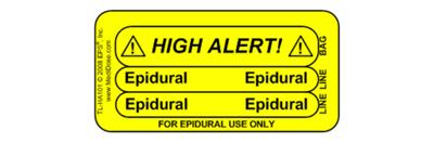 Line Tracing Label - Epidural 1000/Labels/roll