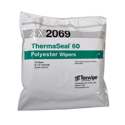 "ThermaSeal 60  9"" x 9"" (23 cm x 23 cm) sealed-edge polyester wipers"